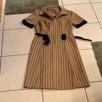 Amazing Vintage Georgia Griffin Dress Brown and Black Photo