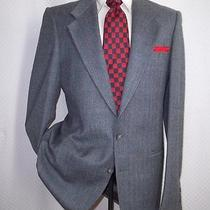 Amazing Yves Saint Laurent Light Blue Plaid Wool Blend 2btn Jacket Coat 40 R   Photo