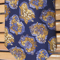 Amazing Yves Saint Laurent Roses Lilis Print Silk Tie  Photo