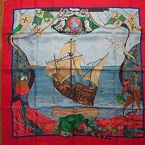 America-Colombus Hermes Scarf  Photo