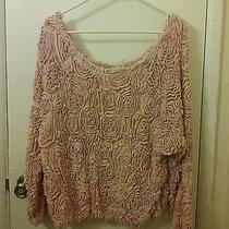 American Apparel 3d Mesh Sweater. One Size. Blush. Photo