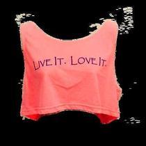 American Apparel  70&sunny Live It Love It Blush Pink Crop Tank Top Tee Shirt  Photo