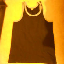 American Apparel /alternative Earth Tank Top Black/grey Size M Photo