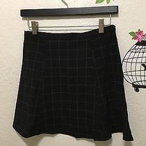 American Apparel Black Grid Lulu Skirt Medium M Photo