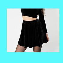 American Apparel Black Velvet Skater Skirt Xs Dress Urban Outfitters Vintage Photo
