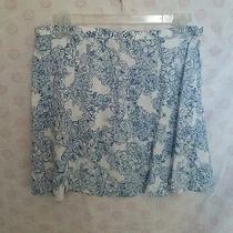 American Apparel Blue Floral Mini Skirt Lulu Lolita Size L Aa  Photo