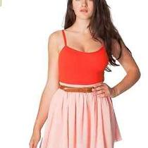 American Apparel Chiffon Double-Layered Shirred Waist Skirt  Color Blush  Xs/s Photo