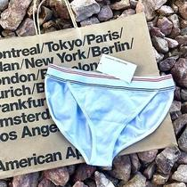 American Apparel Christie White Red Stripe Cheeky Panties Underwear Size S Nwt Photo