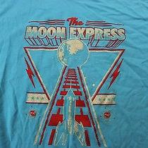 American Apparel Moon Express Rocket Tee T Shirt Large L  Photo