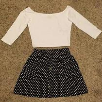 American Apparel Nasty Gal Retro a Line 90s Clueless Skirt Vintage Buttons Photo