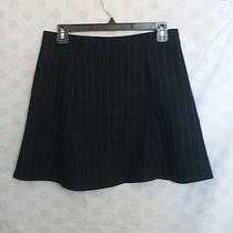 American Apparel Navy Blue and White Pinstripe Lulu Lolita Mini Skirt Size L Aa  Photo
