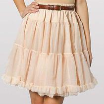American Apparel Petticoat Slip Skirt Blush Pink One Size Photo