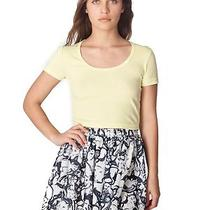 American Apparel Rsa0325c Illustrated Chiffon Double-Layered Shirred Waist Skirt Photo