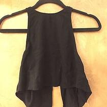 American Apparel the Lulu Crop Top Black Size M Photo