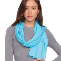 American Apparel Unisex Sheer Jersey Scarf in Aqua  Org 17 Photo