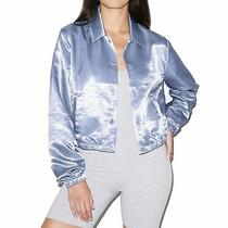American Apparel Womens Jacket Blue Size Xs Fly Cropped Coach Satin 52 059 Photo
