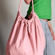 American Apparel X539 Cotton Canvas La-Z Girl Side Pocket Bag - Blush Pink Photo