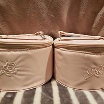 American Breast Care Round Zipper Blush Storage Travel Case & Box Only Pair Photo