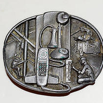 American Communications Industry Belt Buckle Siskiyou 1988 Telephone Workers Photo