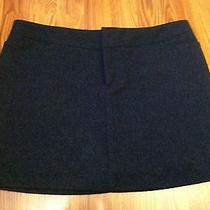 American Eagle Ae Women's Wool Blend Stretch Lined Mini Skirt Size 10 Vgc Gray Photo