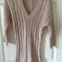 American Eagle Aerie Women's Sz S Sweater Blush Pink Cabled Sheer Knit Euc  Photo