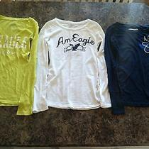 American Eagle & Aeropostale Long Sleeve T Shirt Lot Size Xs Photo