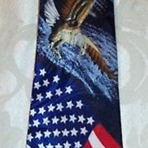 American Eagle and American Flag Men's Neck Tie by Steven Harris Photo