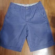 American Eagle Blue Distressed Longer Length Shorts Nice Photo