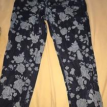 American Eagle Blue Floral Jeans Photo