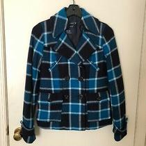 American Eagle Blue Plaid Jacket Size Xs Photo