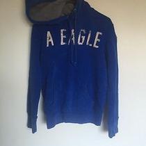 American Eagle Blue Sweatshirt Small Used Hooded Photo