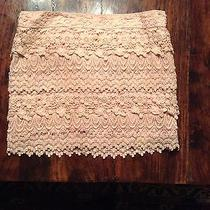 American Eagle Blush Lace Skirt Size 4 Photo