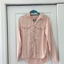 American Eagle Blush Pink Button Down Top  Photo