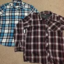 American Eagle / Columbia Plaid Shirt Lot Photo