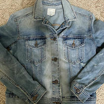 American Eagle Denim Blue Jean Jacket Womens Size Xs Distressed Nwot Photo