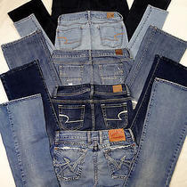 American Eagle  Express  Lucky Jeans 5pc Lot Womens  Size 2 Reg    F-2 Photo