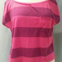 American Eagle Feather Light Women's Pink & Purple Top Size Medium Free Shipping Photo