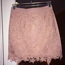 American Eagle Fitted Lace Skirt Blush Pink Xs Photo