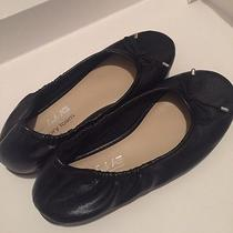 American Eagle Girls Ballet Flats Sz 12.5y Little Kid Black Silver Memory Foam  Photo