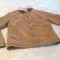 American Eagle Girls Size Med Corduroy Sherpa Lined Jacket. Photo