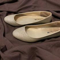 American Eagle Gold Shiny Dressy Cute Sparkly Special Occasion Flats Size 9 Photo