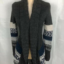 American Eagle Gray Hobo Cable Knit Sweater Open Cardigan Sz Xs Warm Gr8 Cond Photo