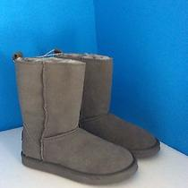 American Eagle Gray Suede-Leather Warm Winter Boots Size 7m New Photo
