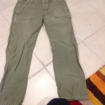 American Eagle Green Cropped Pants  Photo