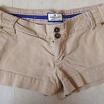 American Eagle Khaki Favorite Shorts Size 4 Photo