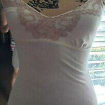 American Eagle Lace Embellished Ivory & Blush Tank Size Extra Small  Photo