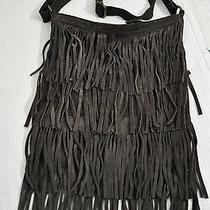 American Eagle Leather Fringe Messenger Cross Body Sling Purse Photo
