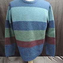 American Eagle Men's Size Xl 100% Lambs Wool Sweater Stripe Photo