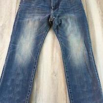 American Eagle Mens 38x32 Original Straight Leg Blue Jeans Extreme Flex 4  Photo