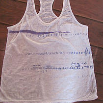 American Eagle Mens Gray/purple Vintage T Tank Top Xlarge Photo